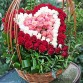 101 rose heart in basket 'Love'